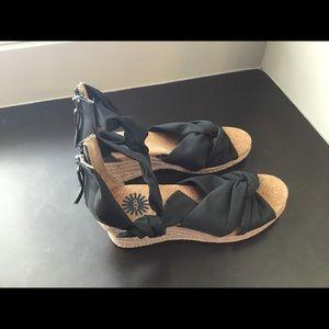 New Ugg Espadrille Wedge Sandals